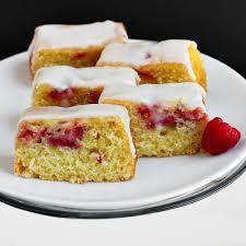 fresh raspberry strawberry mini cakes with thick lemon glaze a