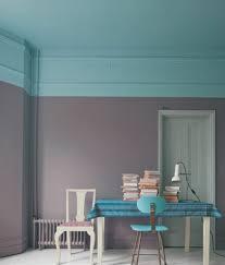 wandgestaltung zweifarbig wand zweifarbig grau türkis colors schicke moderne