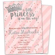 pink and silver baby shower shop baby girl princess shower invitations on wanelo