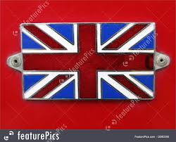 British Flag With Red British Union Jack Flag Photo