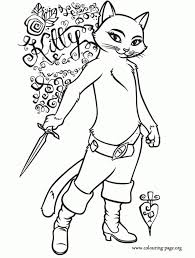 puss in boots coloring pages with regard to encourage cool