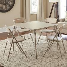 cosco square folding table cosco 34 in square table and chair set 5 piece set hayneedle