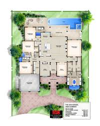 Covered Lanai by South Florida Designs Coastal Great Room Floor Plan South Florida