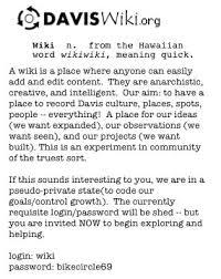 A Place Wiki Wiki Flyer Davis Localwiki