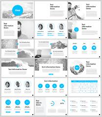 Resume Powerpoint Template Free Clean Powerpoint Template For Designers With 18 Slides Web