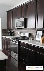 kitchen backsplash ideas with dark cabinets gray kitchen cabinet
