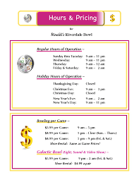 rinaldi s riverdale bowl home hours pricing