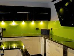 green glass backsplashes for kitchens green painted glass backsplash with black cabinets amazingly
