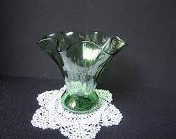 Victorian Glass Vase Victorian Vase Etsy