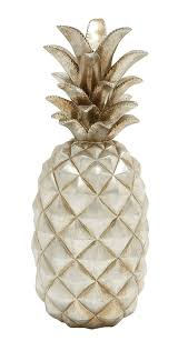 amazon com deco 79 62363 poly stone silver pineapple home decor