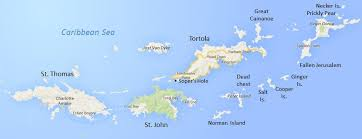 map of the bvi islands cruise via luxury yacht