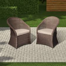 6 Seat Patio Dining Set Holden 2 Piece Wicker Patio Dining Chair Set Threshold Target