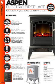amazon com aspen free standing electric fireplace stove 23 inch
