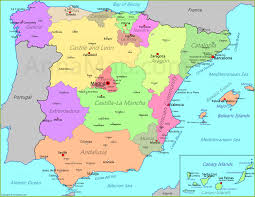 map of spain spain map map of spain annamap