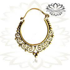 small earrings design pair of brass earrings hill tribal hoops small brass earrings
