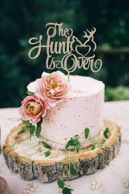 deer cake topper wedding rustic cake topper the hunt is cake topper wedding