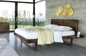 Bed With Attached Nightstands Copeland Furniture Natural Hardwood Furniture From Vermont
