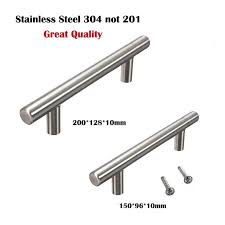 what is the best quality cabinet hardware stainless steel 304 t bar door handle cabinet knobs furniture handles pull for kitchen furniture cupboard drawer