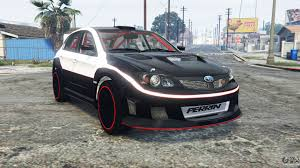 subaru impreza wrx hatchback 2017 subaru impreza wrx sti grb 2009 replace for gta 5