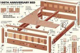 unusual design bed frame woodworking plans wooden platform bed