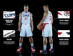 first look clippers u0027 new white and blue jerseys designed by nike