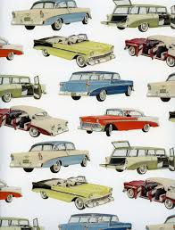 classic cars decorative paper vintage cars wrapping paper cars