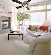 modern ceiling fan completing contemporary interior styles