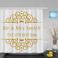 Custom Bathroom Shower Curtains Custom Couples Name And Wedding Date Shower Curtain Personalized