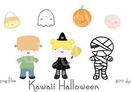 halloween clipart ghost kawaii halloween witch mommy skull frankenstein monster ghost