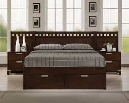 Platform Bed Designs With Storage by Bella Platform Storage Bed In Warm Brown Cherry Homelegance