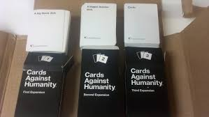 cards against humanity expansion these cards were at the top of each expansion pack when opened