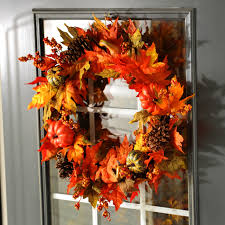 captivating thanksgiving decorations shows wreath from