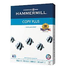 hammermill copy plus paper letter size paper 20 lb ream of 500