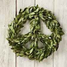 inspire bohemia holiday wreaths peace signs