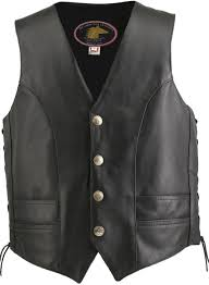 motorcycle style leather jacket men u0027s hillside usa horsehide biker vest