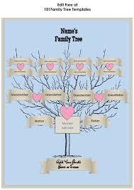 three generation family tree template