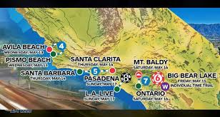 santa california map santa clarita hosting 5th stage of amgen tour of california