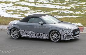 audi ute audi tt rs roadster accompanied by a4 allroad and sedan for