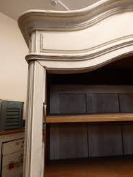 shabby chic bookcase belgravia ornate white low bookcase liked on