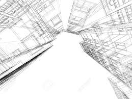 abstract architectural 3d construction concept modern
