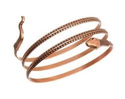 antique copper bracelet images Snake arm band etsy jpg