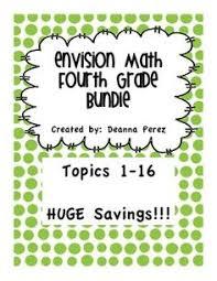 envision math 4th grade topic 1 study guide teaching pinterest