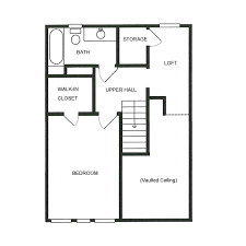 vaulted ceiling floor plans a1 u2013 waterbury place townhomes