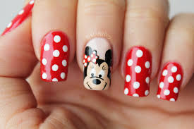 minnie mouse nail art decoracion de uñas minnie mouse youtube
