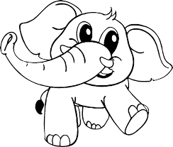 baby cartoon elephant coloring page wecoloringpage