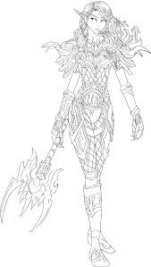 wow elves coloring pages blood elf hunter by dinaconcept