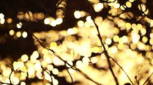 tree lights time and new year decoration blinking