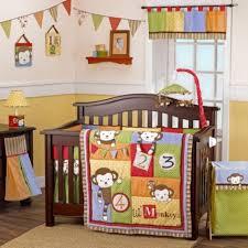 Crib Bedding Monkey Cocalo 6pc Crib Bedding Set Four Lil Monkeys Ebay