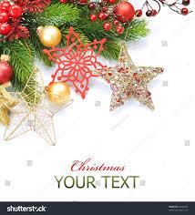 christmas border over whitecorner design stock photo 66402637
