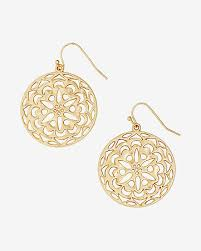 filigree earrings filigree circle drop earrings express